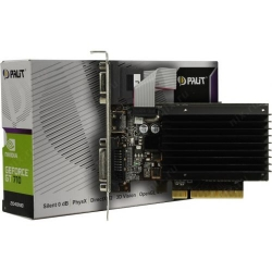 В/к PCI-E 2Gb DDR GF GT710 Palit NEAT7100HD46-2080H D-Sub+DVI+HDMI  64 bit DDR3