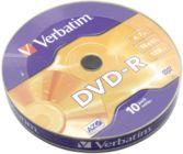 Диск DVD-R     4.7Gb Verbatim 16x (в упаковке 10 шт) 43729