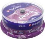 Диск DVD+R     4.7Gb Verbatim 16x (в упаковке на шпинделе 25шт) Cake Box 43500